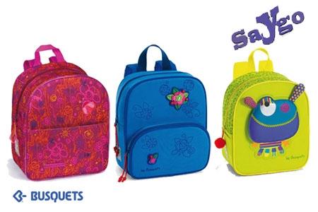 Mochilas Busquets para niño y niña por 12€ en vez de 24€ en Papelería Saygo.