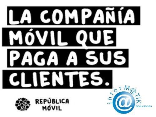 República Móvil, la compañia que paga a sus clientes la tienes en Informatik Soluciones - Serón