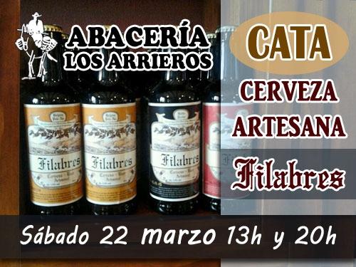 Cata de Cerveza Artesana Filabres -Velefique- maridada con productos de la tierra en Abaceria los Arrieros de Serón