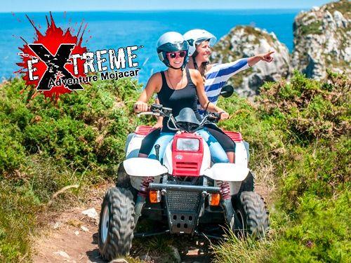 Disfruta la aventura con nuestra Ruta en Quad.  Por sólo 27.50 Euros. Extreme Adventure Mojácar