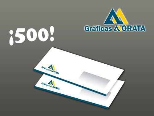Impresión de 500 Sobres Americanos por 29€ en Gráficas Morata de Huércal-Overa