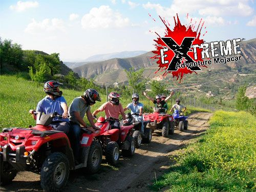 Disfruta la aventura con nuestra Ruta en Quad.  Por sólo 27 Euros. Extreme Adventure Mojácar