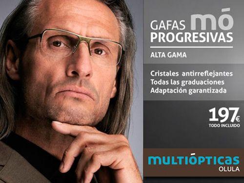 fe0a998dd1 Gafas mó progresivas Alta Gama y asesoramiento personalizado, Multiópticas  en Olula del Río