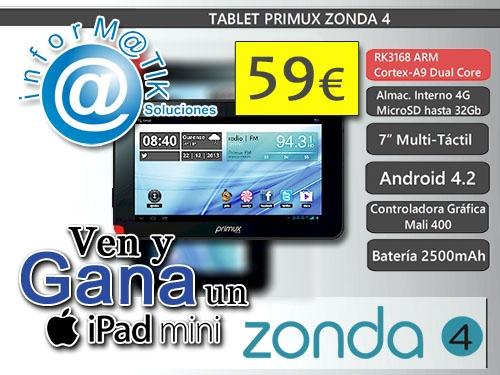"""Tablet Primux 7"""" por 59€ en Informatik Soluciones, tu tienda de informática en Serón"""