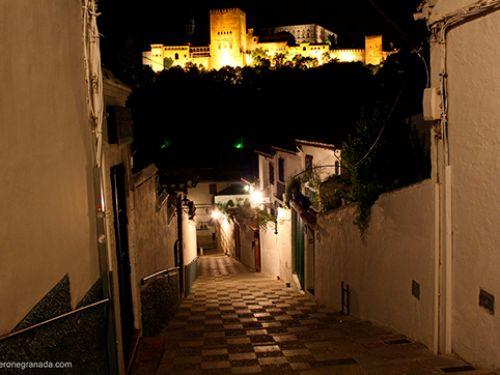 Atardecer en el Albaicín y el Sacromonte de Granada