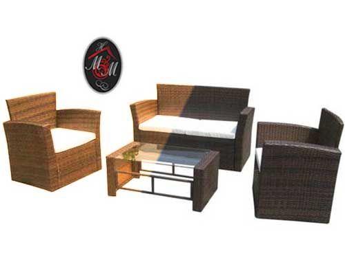 Conjunto de Jardín de Rattán  por 199€!! Mueble Hogar Milenium, distribuidor de muebles en Almería