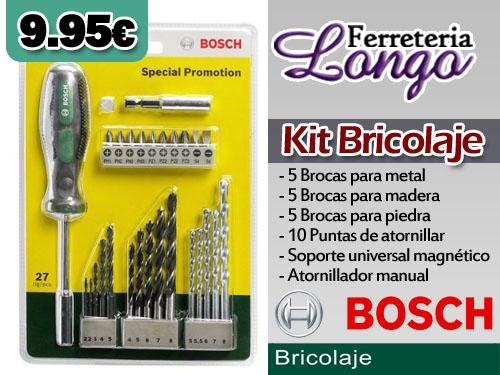 79841cde6022 Kit de Bricolaje Bosch completo por sólo 9.95 euros en Ferretería Longo.  Ferreterías Albox