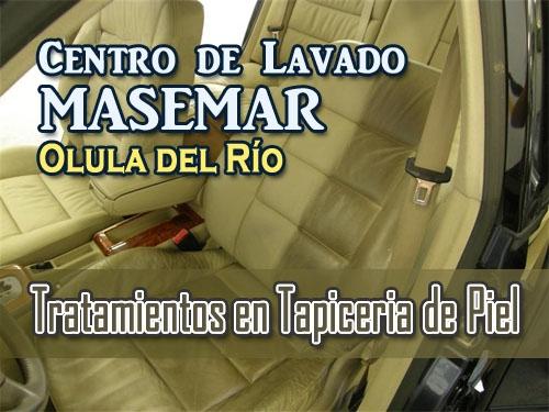Tratamientos en Tapicería de Piel para tu Vehículo en Centro de Lavado Masemar de Olula del Rio