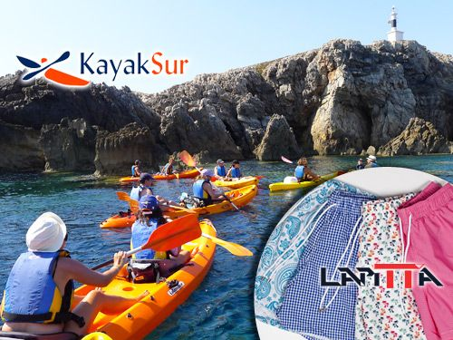 Paseo en Kayak por Cabo de Gata, Snorkell y Reportaje Fotográfico + Regalo Bañador Caballero LAPITTA. KayakSur