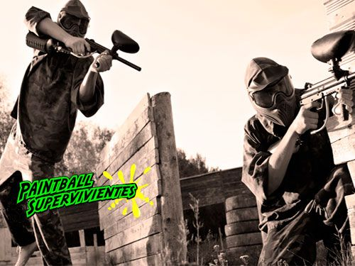 A la batalla!! 4 Partidas Paintball con Equipación, 50 ó 100 bolas, Reportaje Fotográfico. Paintball Supervivientes