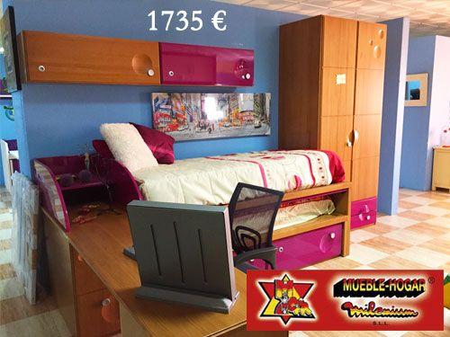 50% descuento en dormitorios de Madera Maciza con Mueble Hogar Milenium de Zurgena