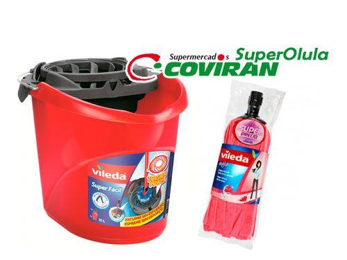 Cubo Vileda Super Fácil + Recambio Fregona Vileda Style. Super Olula Covirán, supermercados en Olula del Río