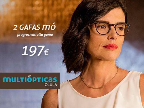 ae0085e66f Pack 2 Gafas Mo Progresivas Alta Gama por 197€, en Multiópticas, ópticas en  Olula del Río