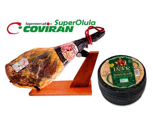 Pieza Jamón Reserva ElPozo + Queso semicurado 3kg El Pastor. Super Olula Covirán, supermercados en Olula del Río