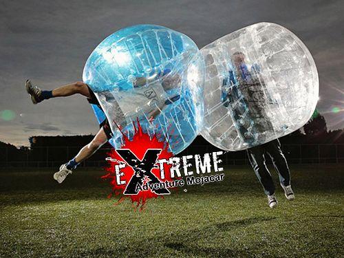 Disfruta el mejor Fútbol en Burbuja y vive una experiencia diferente, por 18€. Extreme Adventure Mojácar, actividades en Mojácar