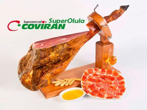 Jamón Curado ElPozo por 45€/pieza en Super Olula Covirán, supermercados en Olula del Río