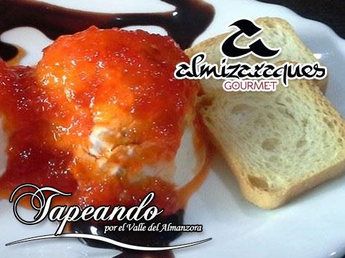 Tapeando en Almizaraques Gourmet de Albox: Queso con Nueces y Confitura de Pimientos+Cerveza
