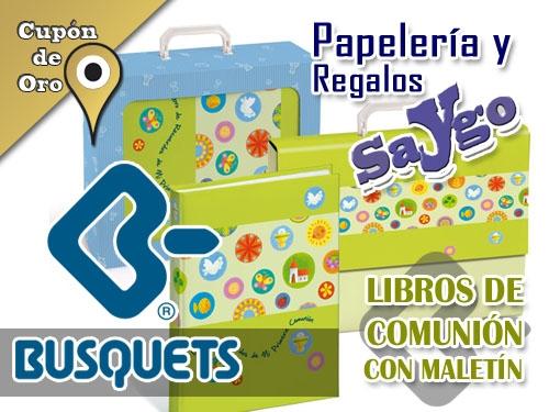 Libros Comunión Busquets, con maletín en Papelería y Regalos Saygo de Albox