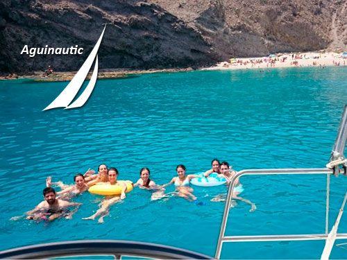 Crucero por la Isla del Fraile, Cueva del Mármol y calas del parque Natural de Cabo Cope. Aguinautic