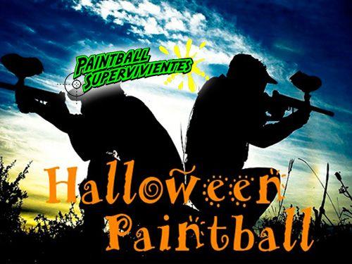 Paintball especial Halloween 100 bolas, Reportaje Fotográfico, Monitor y Seguros! Paintball en Almería con Paintball Supervivientes