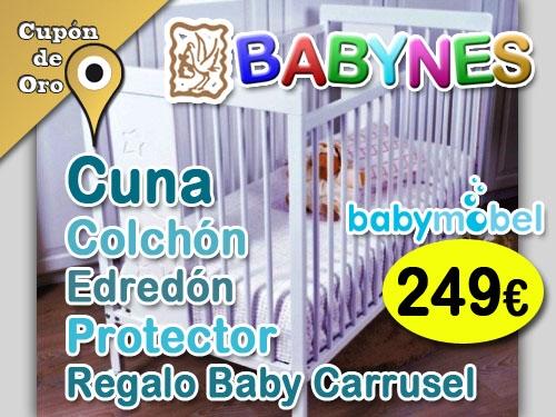 Oferta Cuna + Colchón + Edredón + Protector + Regalo Baby Carrusel en Babynes de Huércal-Overa