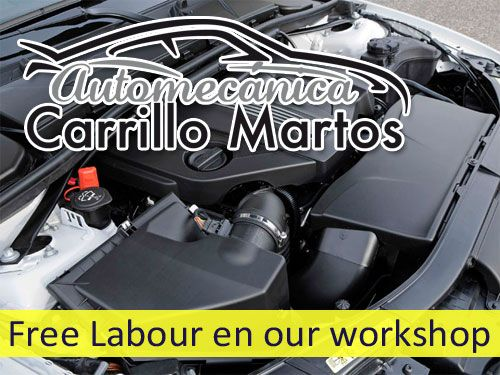 Free Labour in our workshop if you became a suscriber customer in Automecanica Carrillo Martos