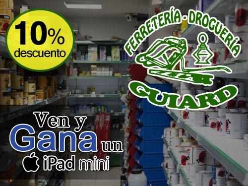 10% descuento en compra superior a 50€ en Ferretería y Droguería Guiard de Tíjola