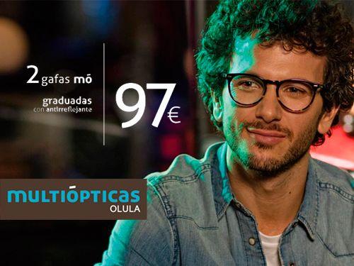 80a23c9ed5 2 Gafas Mo Graduadas con Antirreflejantes, Multiópticas, ópticas en Olula  del Río