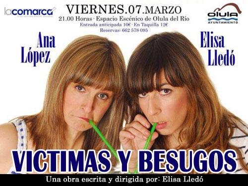 """Viernes 7 marzo divertida obra de teatro """"Victimas y Besugos"""" en el Espacio Escénico de Olula del Rio."""