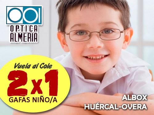 En la Vuelta al Cole, ¡revisa tu vista!. Óptica Almería en Albox y Huércal-Overa
