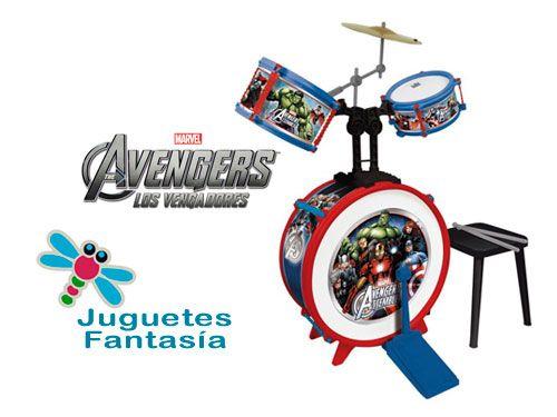 Batería Avengers con banqueta por 25€. Juguetes Fantasía Huércal-Overa