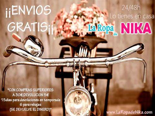 Especial Semana Santa con Envios GRATIS. La Ropa de Nika