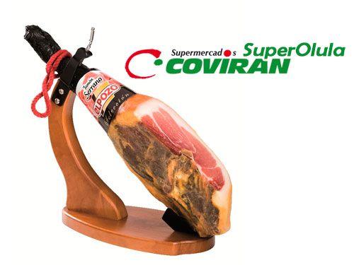 Jamón Curado ElPozo por 43€/pieza en Super Olula Covirán, supermercados en Olula del Río